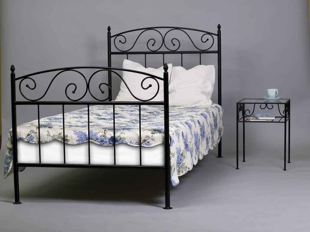 łóżko Metalowe Karo 90 Cm 15 Kolorów
